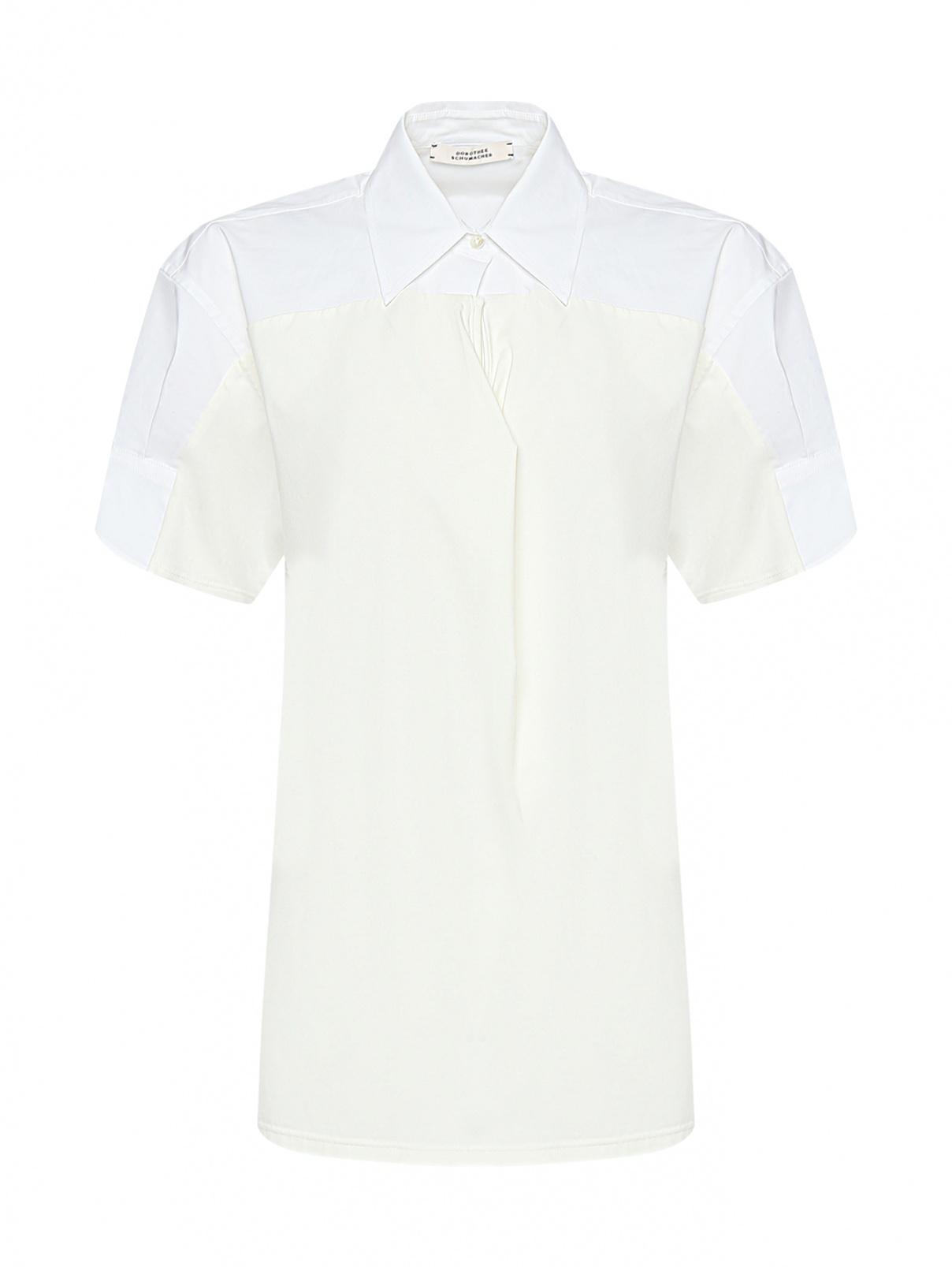 Комбинированная рубашка с короткими рукавами Dorothee Schumacher  –  Общий вид