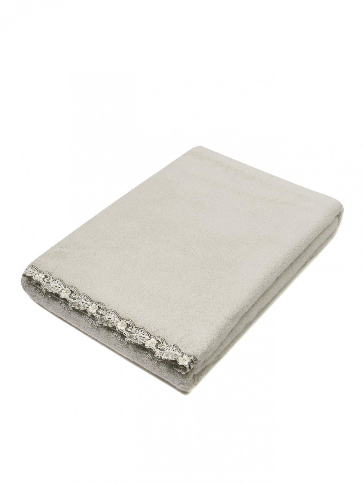 Полотенце из хлопковой махровой ткани с кружевным кантом 100 x 150 La Perla  –  Общий вид