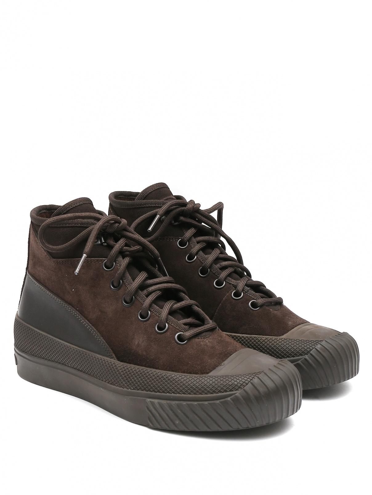 Ботинки из кожи на шнурках Stone Island  –  Общий вид