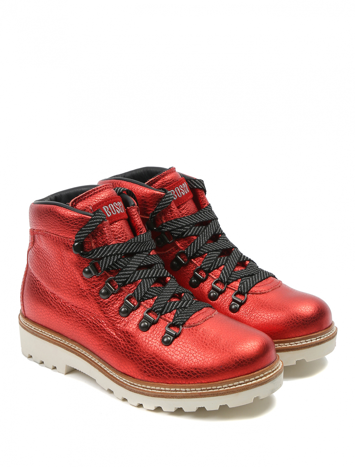 Ботинки из кожи цвета металлик Bosco Fresh  –  Общий вид