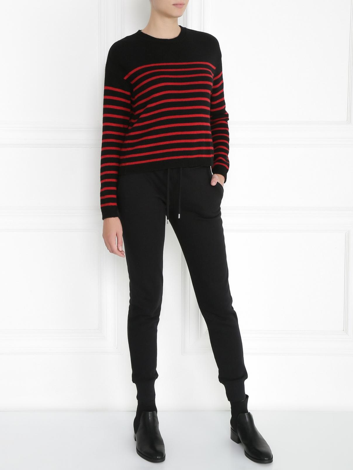 Джемпер из смесовой шерсти с узором Red Valentino  –  Модель Общий вид
