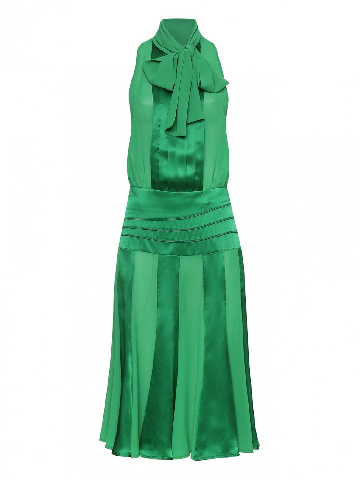 Платье-миди с заниженной линией талии Elisabetta Franchi  –  Общий вид