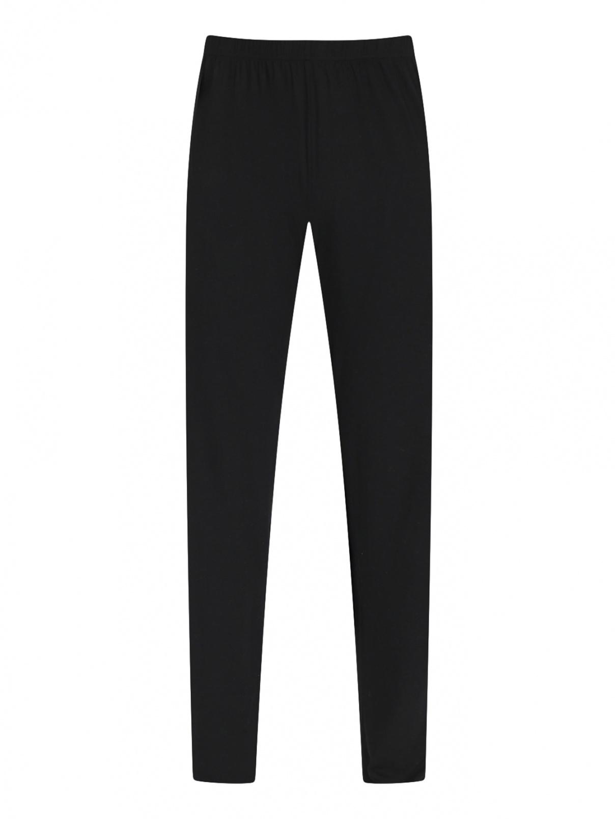Однотонные брюки на резинке NERO PERLA  –  Общий вид