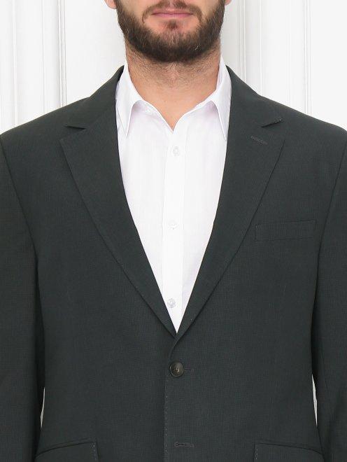 Пиджак из хлопка и льна - МодельОбщийВид1