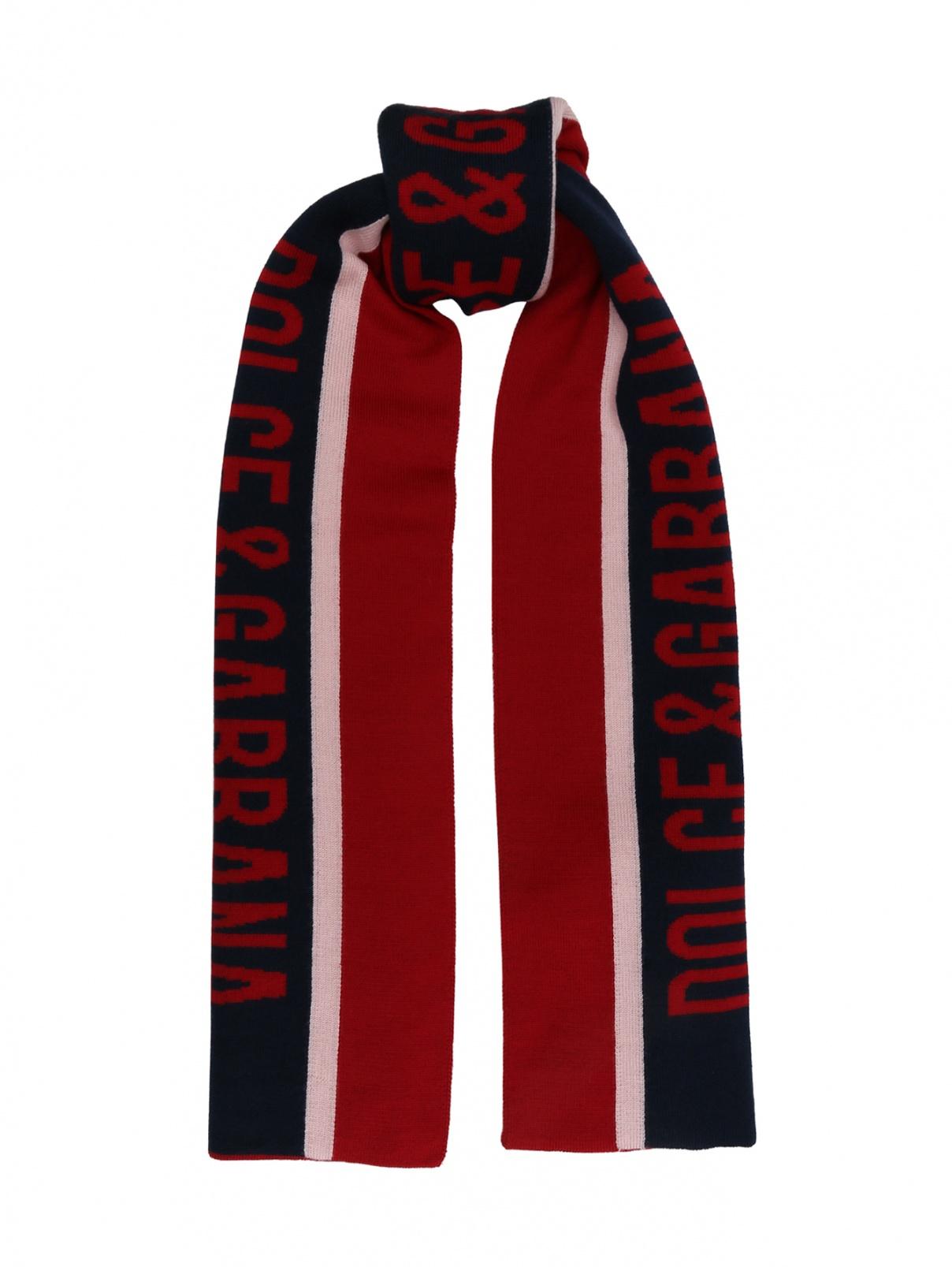 Шерстяной шарф с узором Dolce & Gabbana  –  Общий вид