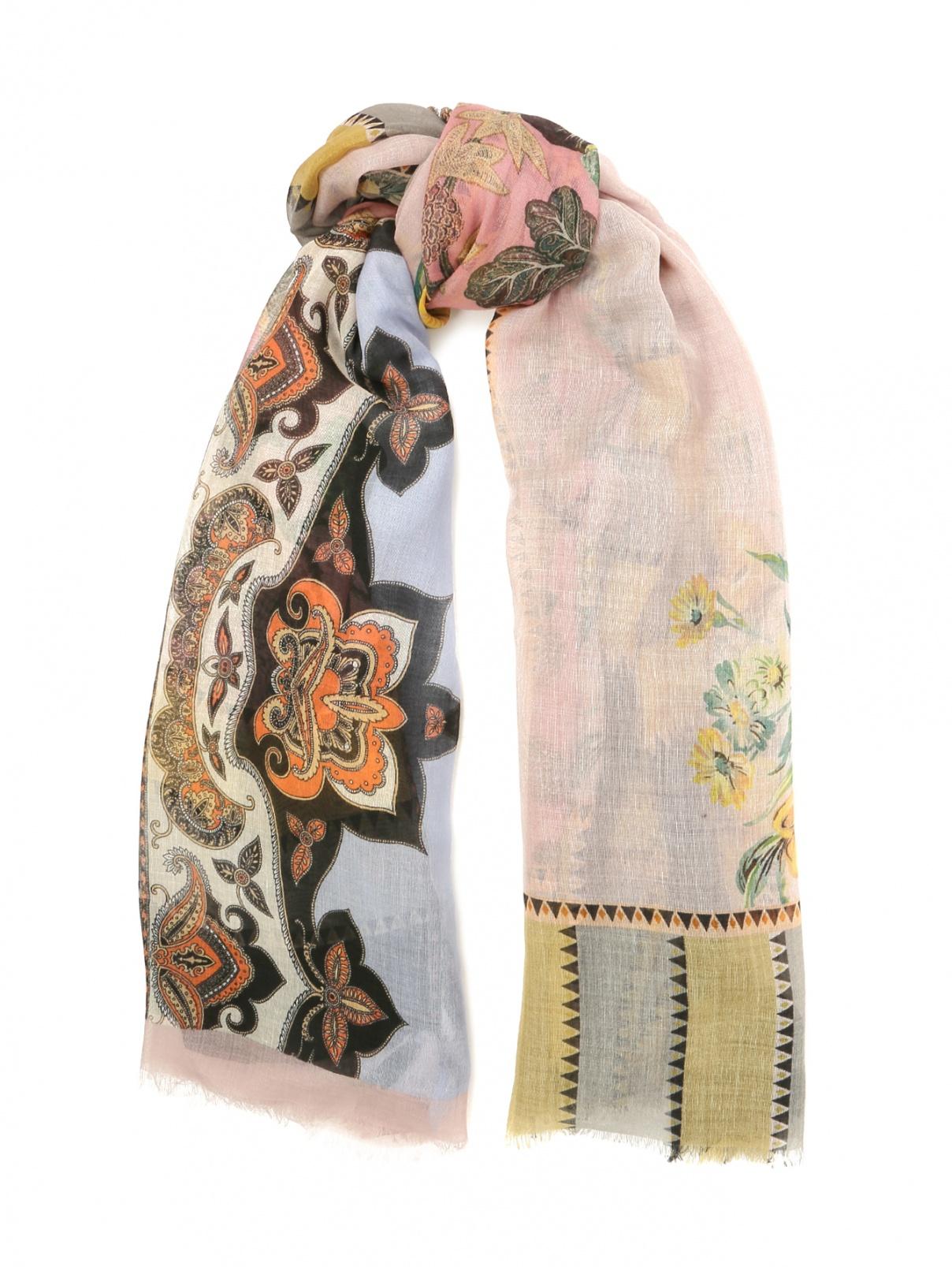 Шарф из кашемира с цветочным узором Etro  –  Общий вид