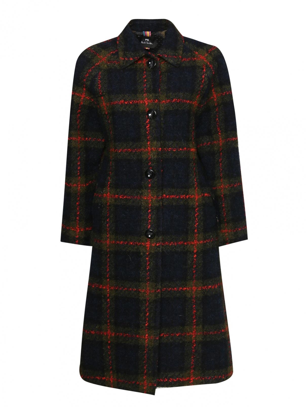 Пальто с добавлением мохера, альпаки и шерсти с узором Paul Smith  –  Общий вид