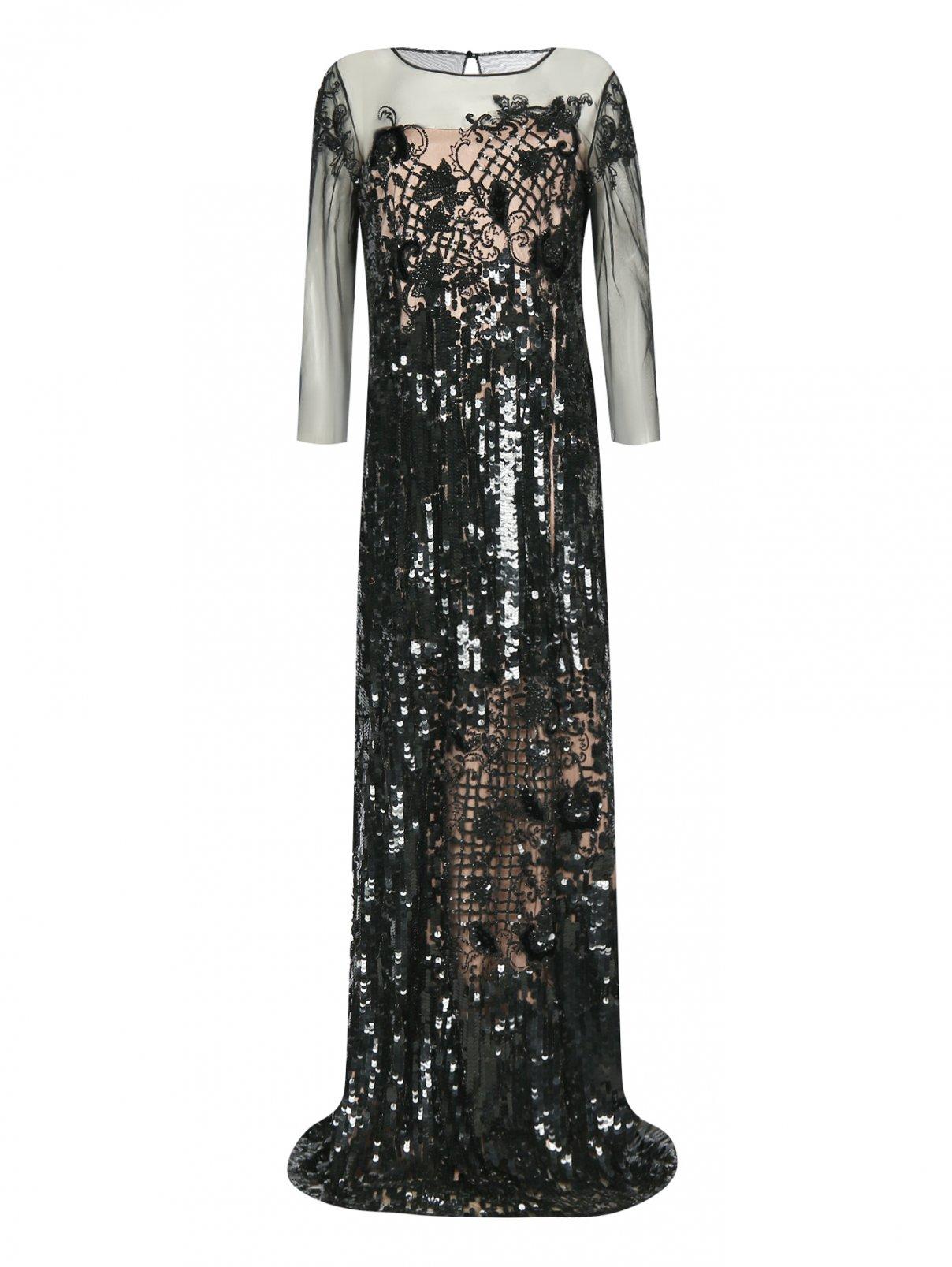 Платье-макси декорированное пайетками Alberta Ferretti  –  Общий вид