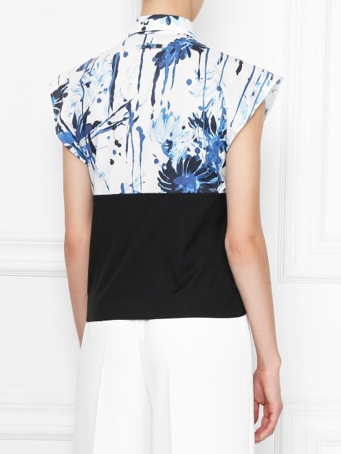 Блуза хлопковая с узором  - МодельВерхНиз1