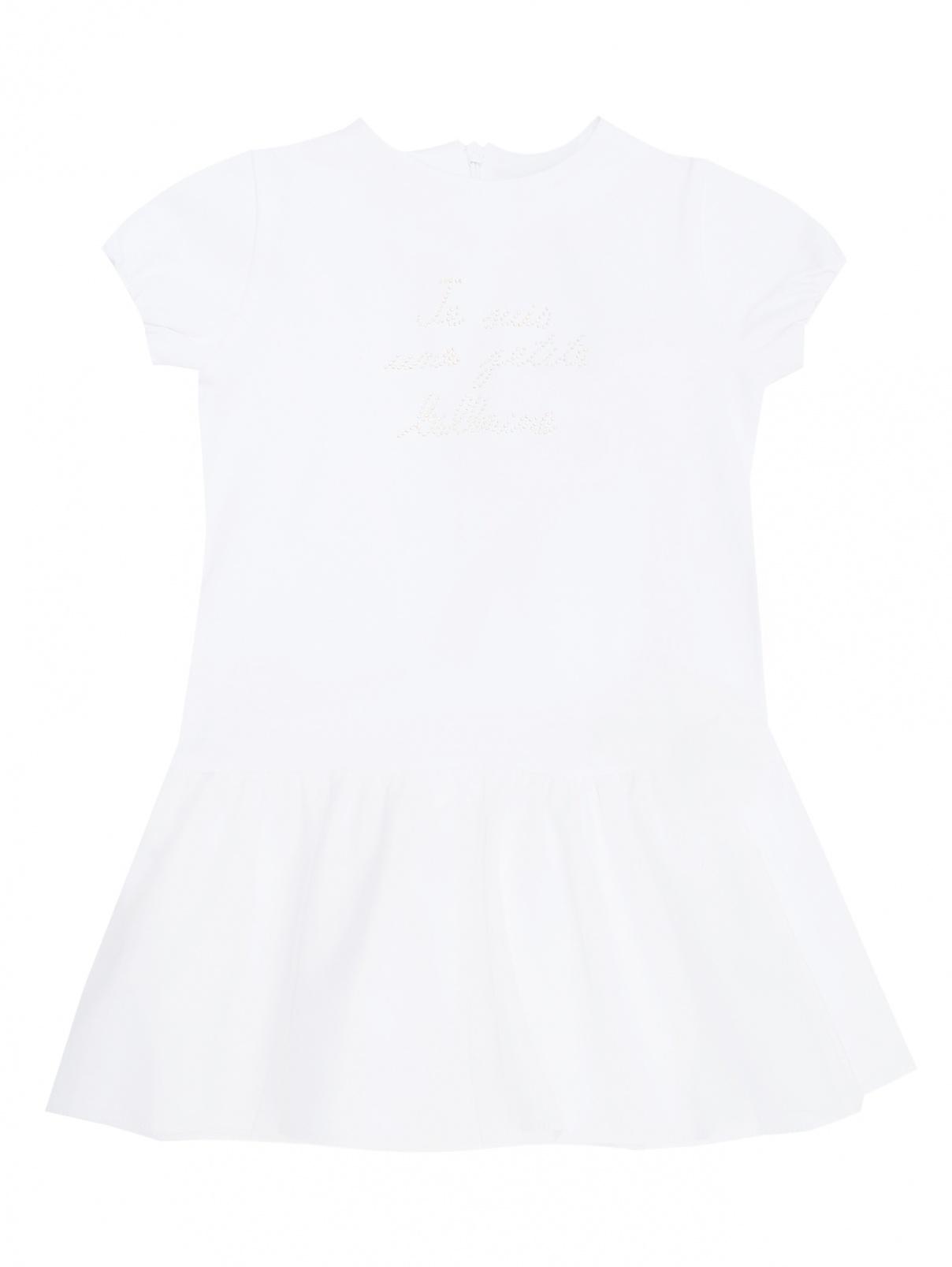 Платье трикотажное со стразами Nanan  –  Общий вид