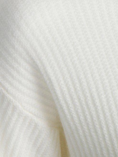 Укороченный джемпер из кашемира на молнии - Деталь1