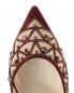 Туфли на шпильке с открытой пяткой и декором стразами René Caovilla  –  Обтравка3