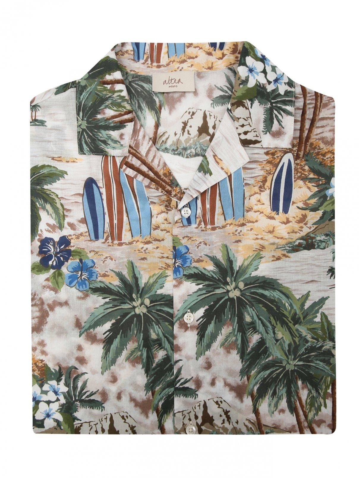 Рубашка из хлопка с коротким рукавом Altea  –  Общий вид