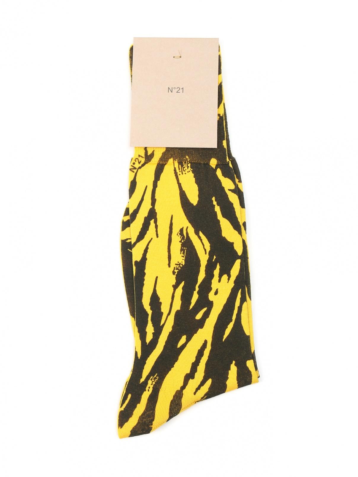 Носки из хлопка с узором N21  –  Общий вид