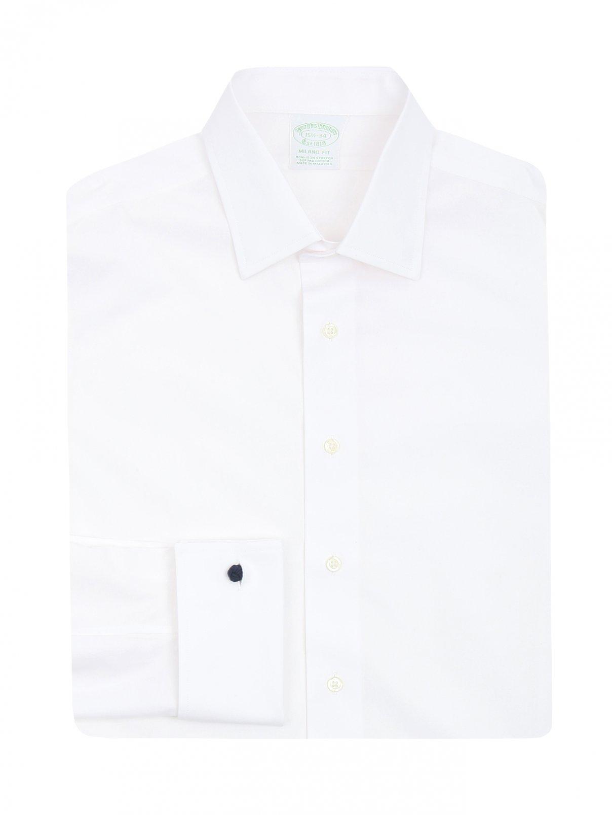 Рубашка из хлопка под запонки Brooks Brothers  –  Общий вид