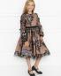 Платье с пышной юбкой расшитое пайетками Aletta Couture  –  МодельОбщийВид