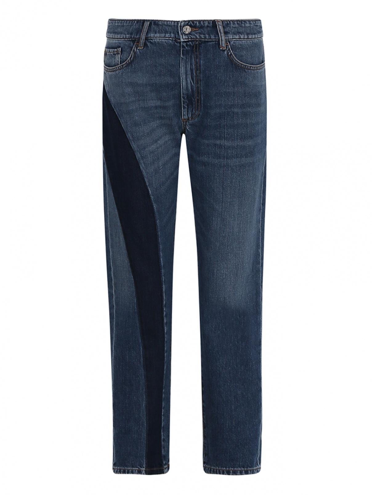 Укороченные джинсы с контрастной отделкой Max Mara  –  Общий вид