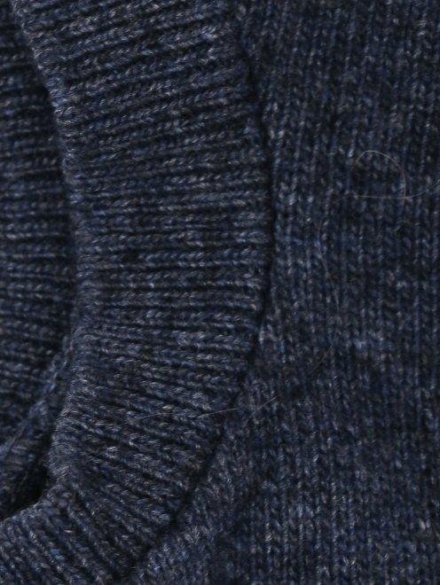 Свитер мелкой вязки со съемными рукавами - Деталь1