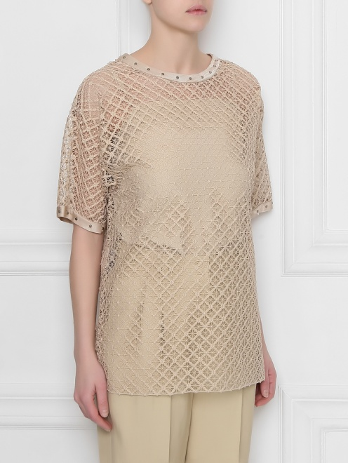 Блуза кружевная с декором Alberta Ferretti - МодельВерхНиз