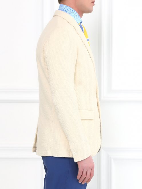 Пиджак из фактурного хлопка  - Модель Верх-Низ2