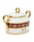 Сахарница из фарфора с узором и золотой окантовкой Ginori 1735  –  Обтравка1