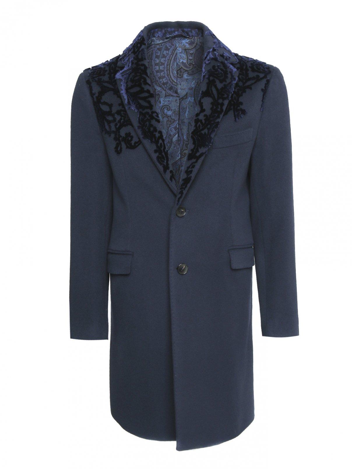 Пальто однобортное из шерсти Etro  –  Общий вид