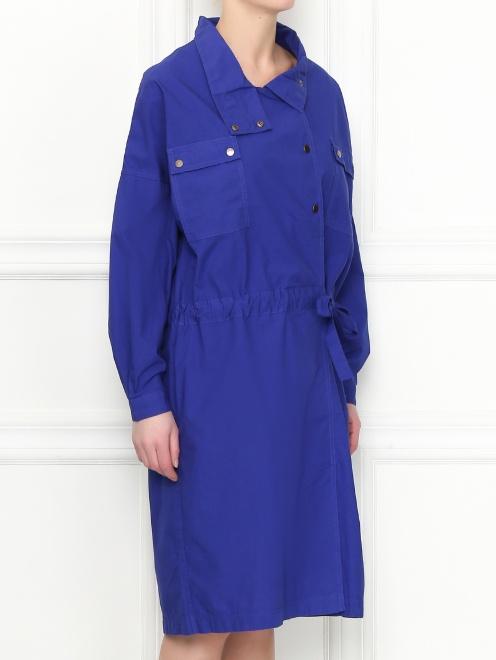 Платье из хлопка асимметричного кроя CLOSED - МодельВерхНиз