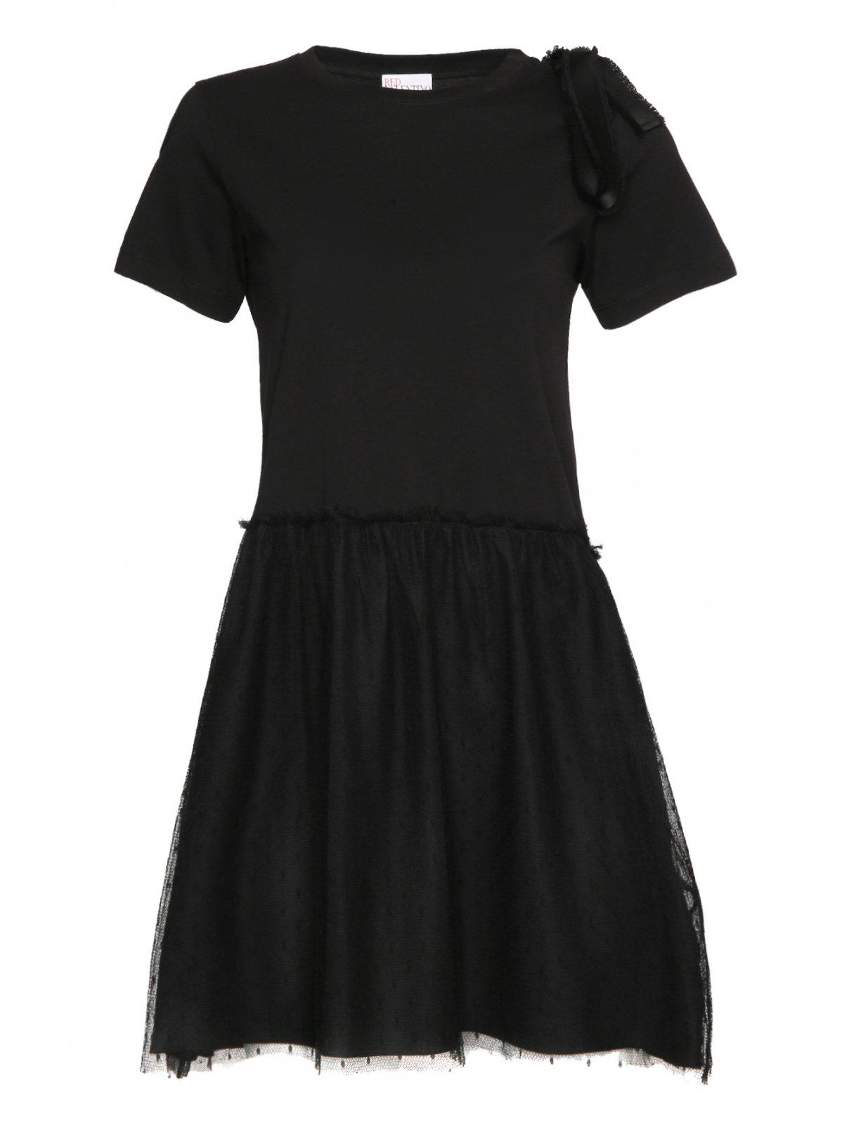 Платье-мини с короткими рукавами Red Valentino  –  Общий вид