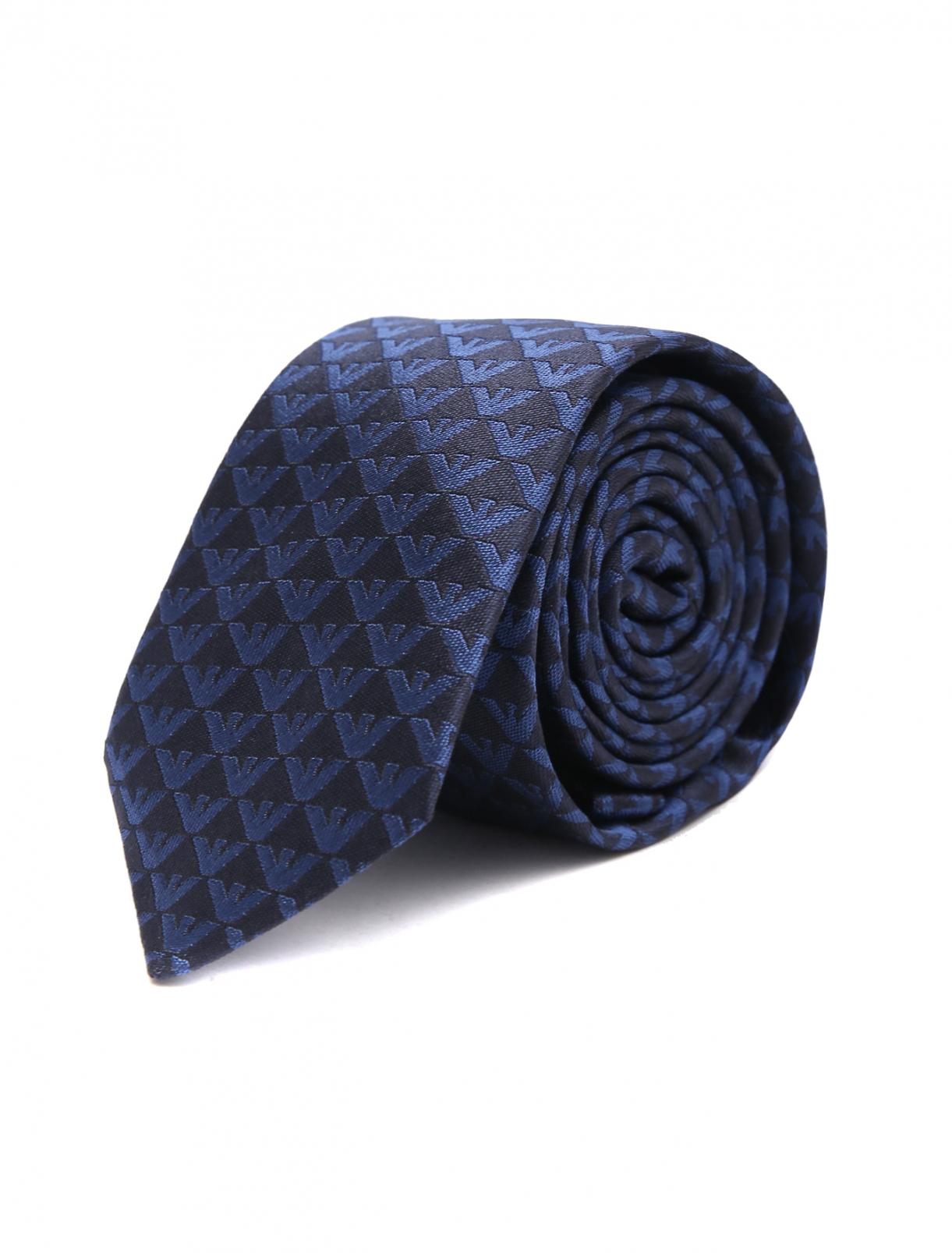 Шелковый галстук с узором Emporio Armani  –  Общий вид