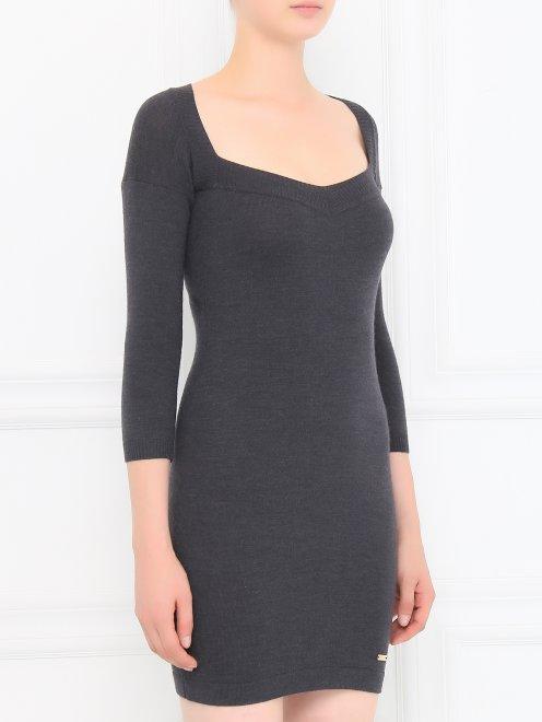Платье-мини из шерсти - Модель Верх-Низ
