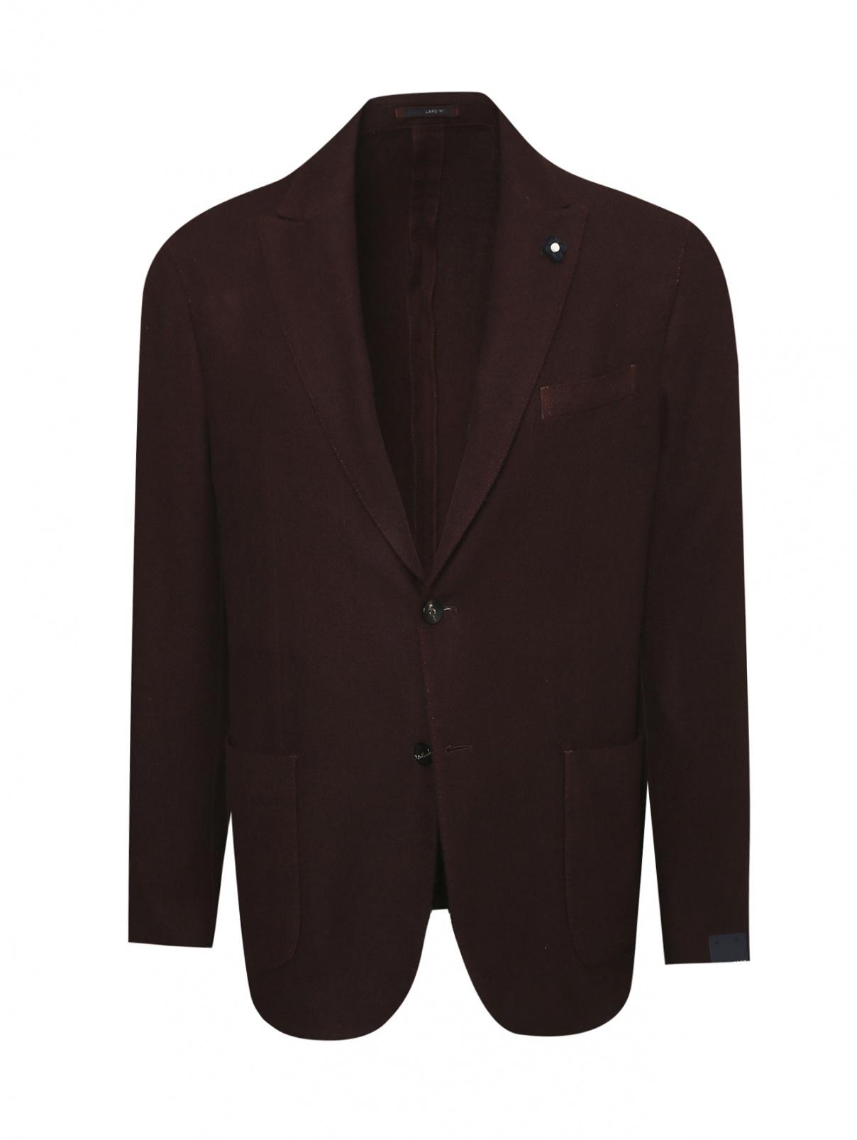 Пиджак однобортный из кашемира LARDINI  –  Общий вид
