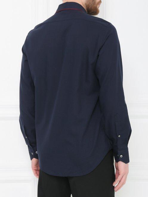 Рубашка из хлопка с контрастной вставкой - МодельВерхНиз1