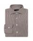 Рубашка из смесового хлопка в полоску LARDINI  –  Общий вид