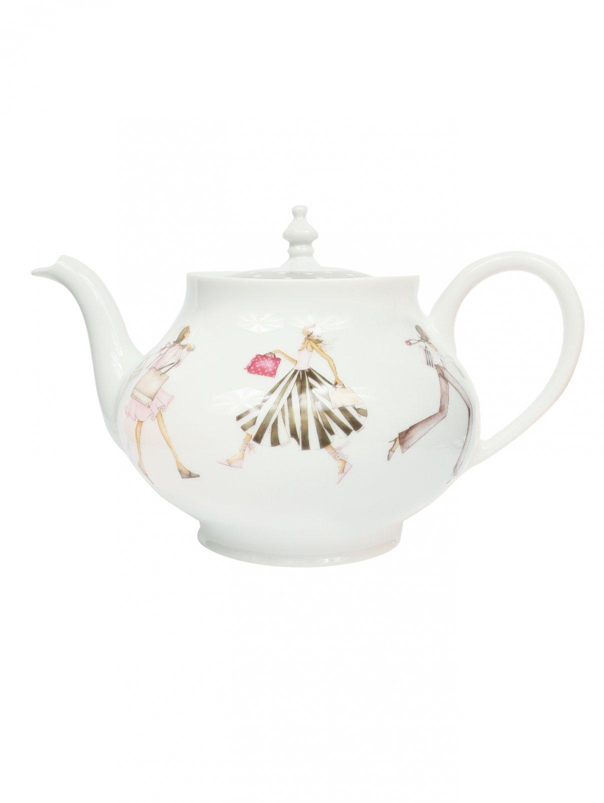 Чайник из фарфора с узором Haviland  –  Общий вид