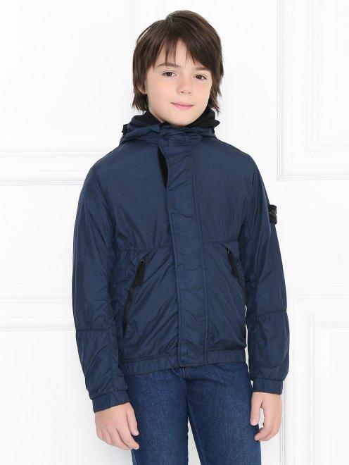 Куртка ветрозащитная с капюшоном - МодельВерхНиз