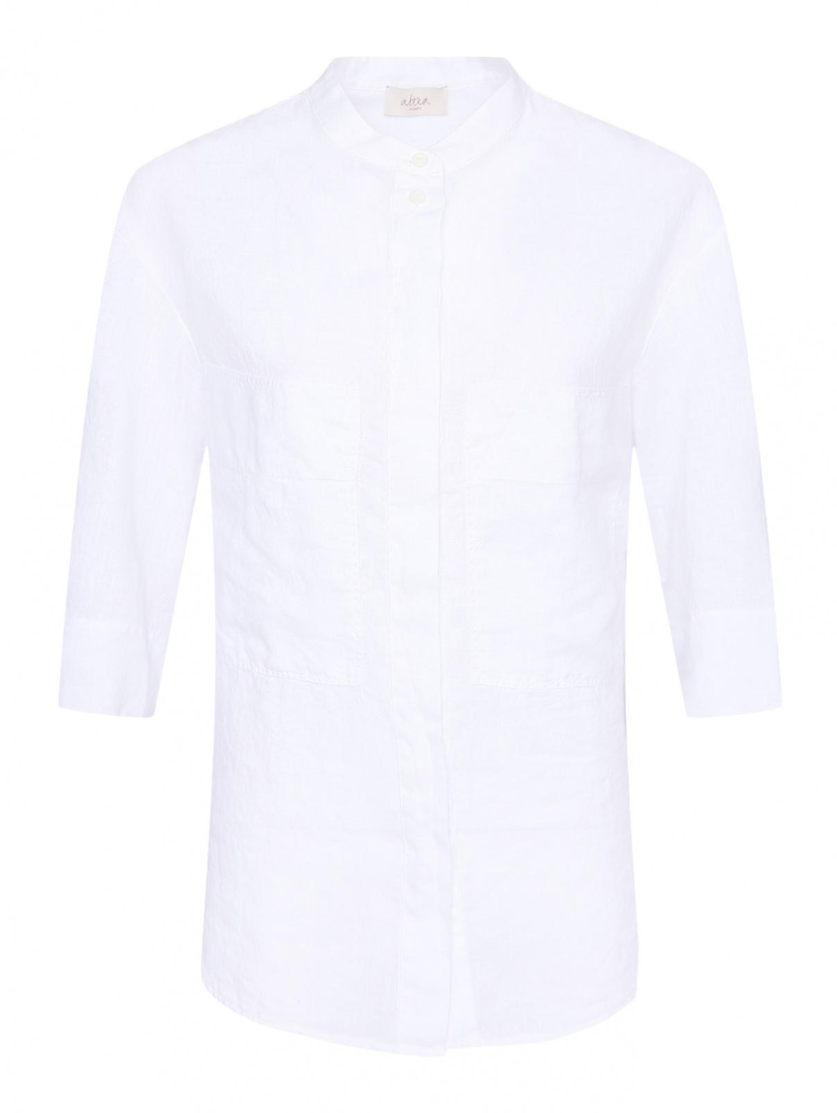 Блуза из льна с накладными карманами Altea  –  Общий вид