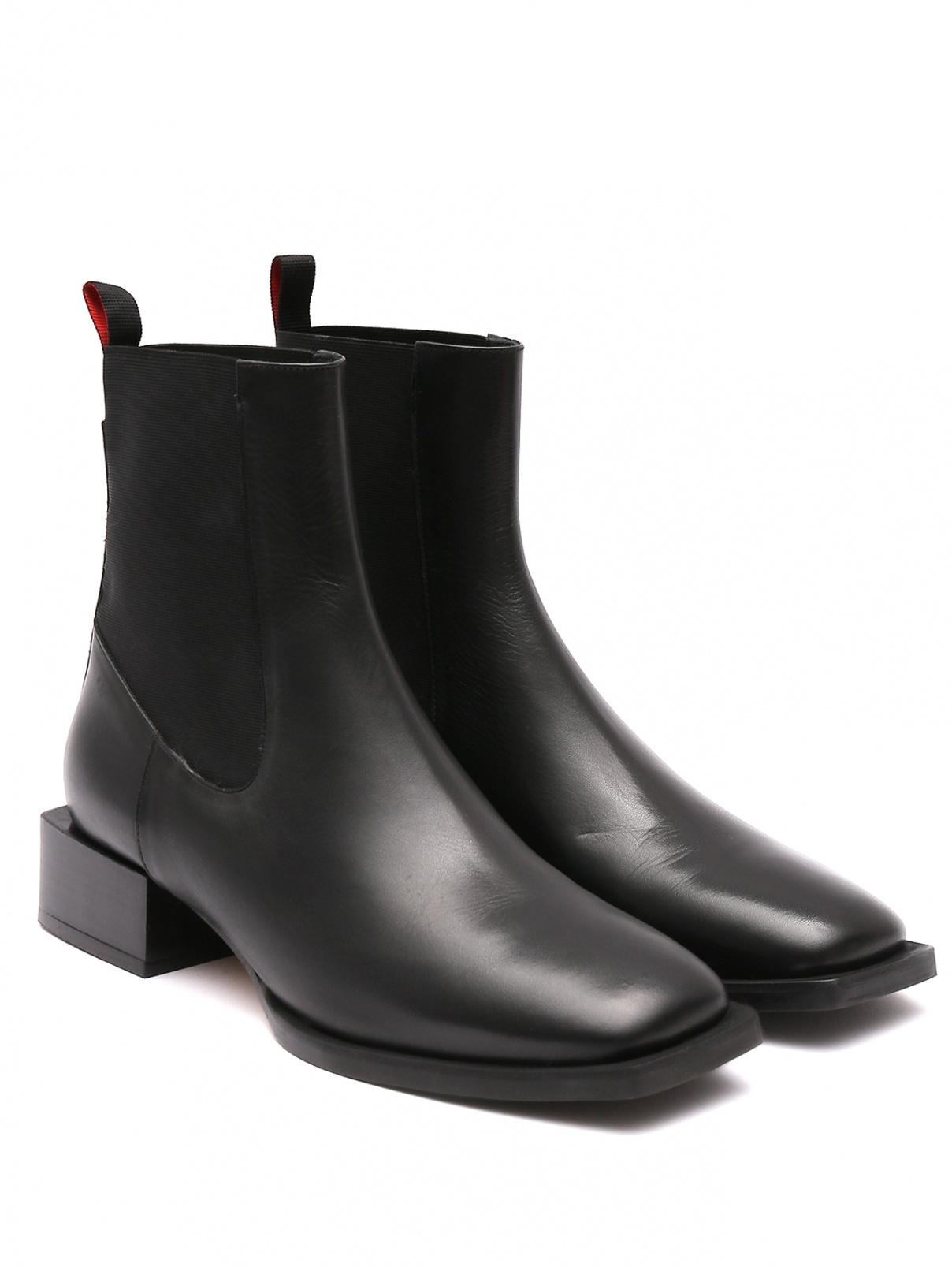 Ботинки из гладкой кожи Max&Co  –  Общий вид