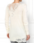 Удлиненный кашемировый пуловер украшенный кружевом Ermanno Scervino  –  Модель Верх-Низ1