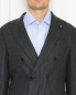 Двубортный костюм из смесовой шерсти в полоску LARDINI  –  МодельОбщийВид3