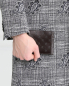 Кошелек из кожи с узором Brooks Brothers  –  МодельВерхНиз