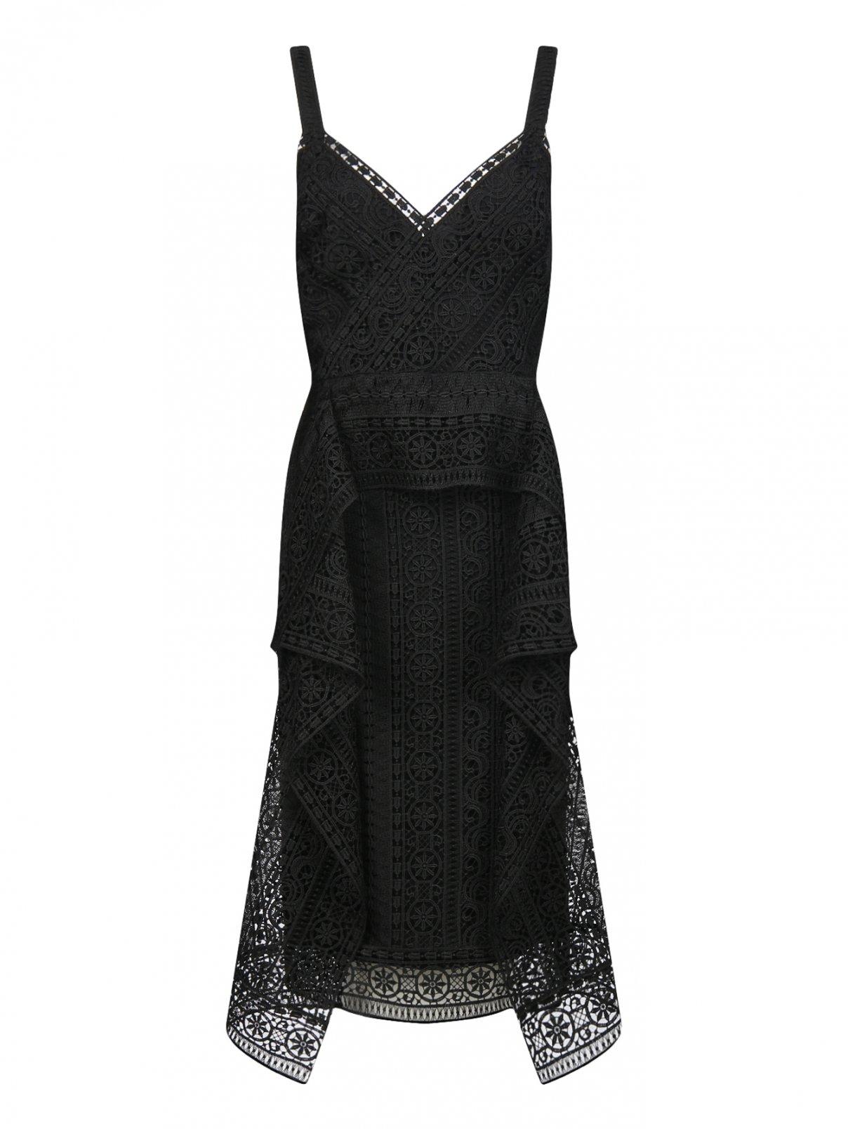 Платье из кружева без рукавов Alberta Ferretti  –  Общий вид