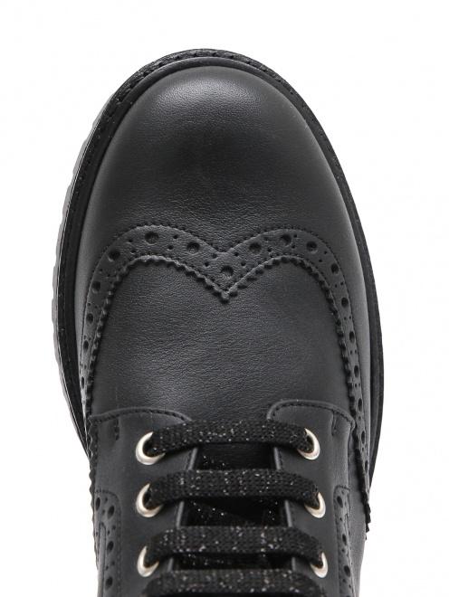 Ботинки кожаные с перфорацией Zecchino d`Oro - Обтравка3