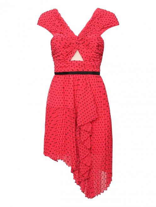 Платье асимметричного кроя с узором - Общий вид